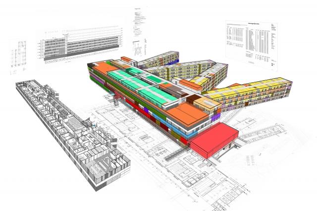 BIM @ Medisch Centrum Alkmaar (bron: architectenbureau cepezed)