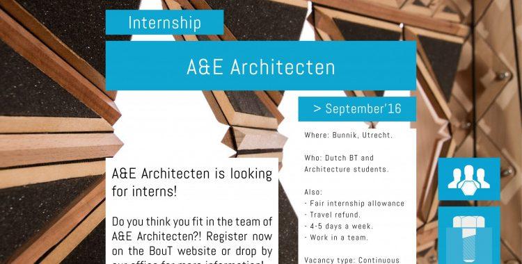 Internship Position | A&E Architecten | >09.2016