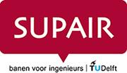 Logo SUPAIR rood - banen voor ingenieurs (juni 2016)